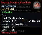 Neriak Practice Knuckles