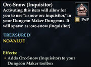 Orc-Snow (Inquisitor)