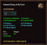 Tainted Ring of Ry'Gorr