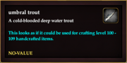 Umbral trout