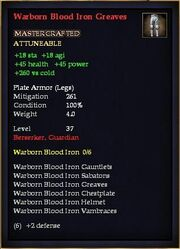 Warborn Blood Iron Greaves