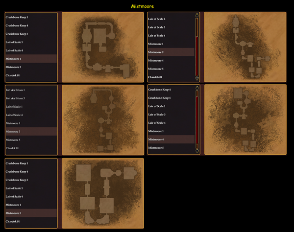 Dungeon Maker Mistmoore Maps