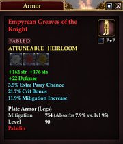 Empyrean Greaves of the Knight
