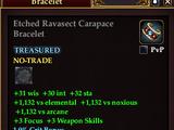 Etched Ravasect Carapace Bracelet
