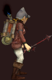 Heavy Bloodiron Wand of Desvestation (Equipped)