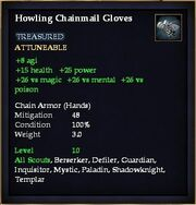 Howling Chainmail Gloves