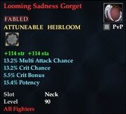 Looming Sadness Gorget