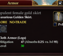 Opulent female gold skirt