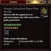 Orange Galvanized Paper Plate Mantle