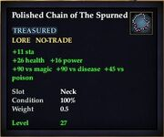 Polished Chain of The Spurned
