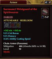 Sacrosanct Wristguard of the Spiritweaver