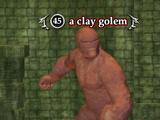 A clay golem