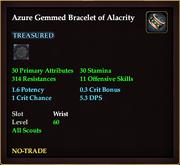 Azure Gemmed Bracelet of Alacrity