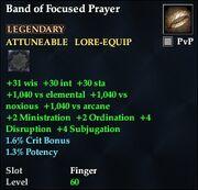 Band of Focused Prayer
