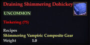 Draining Shimmering Dohickey