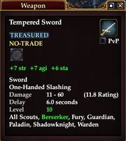 Tempered Sword