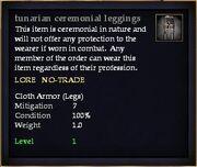 Tunarian ceremonial leggings
