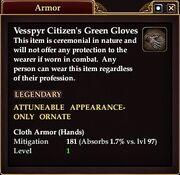 Vesspyr Citizens green Gloves