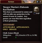 Vesspyr Warrior's Elaborate Red Barbute