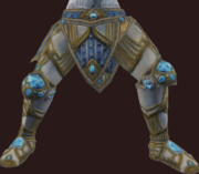 Vesspyr Warrior's Elaborate Steel Greaves (Equipped)