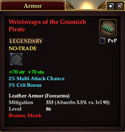 Wristwraps of the Gnomish Pirate