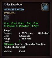 Alder Shortbow