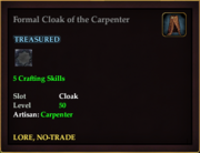 Formal Cloak of the Carpenter
