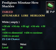 Prodigious Minotaur Hero Shackles