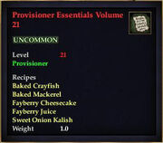 Provisioner Essentials Volume 21