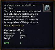 Seafury ceremonial officer skullcap