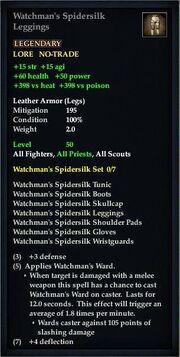 Watchman's Spidersilk Leggings