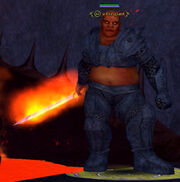 A fire giant