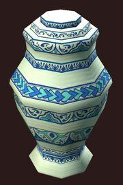 An ornate vase visible