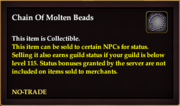 Chain Of Molten Beads