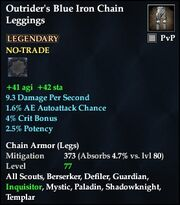 Outrider's Blue Iron Chain Leggings