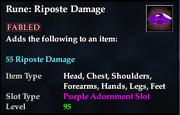 Rune- Riposte Damage