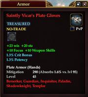 Saintly Vicar's Plate Gloves