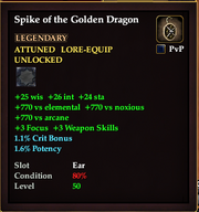 Spike of the Golden Dragon