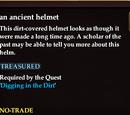 An ancient helmet