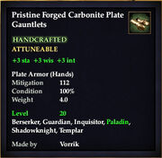 Carbonite Plate Gauntlets