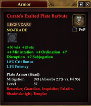 Curate's Exalted Plate Barbute