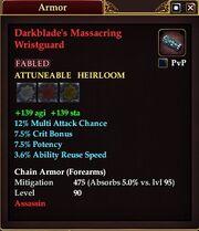 Darkblade's Massacring Wristguard