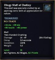 Dingy Staff of Destiny