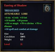 Earring of Shadow