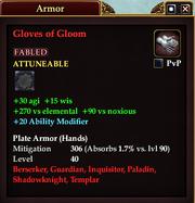 Gloves of Gloom