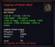 Leggings of Harla's Word