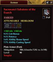 Sacrosanct Sabatons of the Exarch