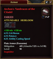 Archon's Vambraces of the Citadel