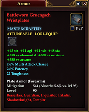Battleworn Gruengach Wristplates