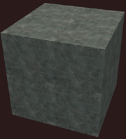Block of impacted metal